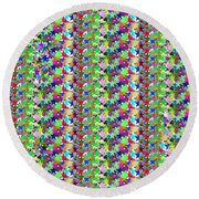 Round Beach Towel featuring the photograph Colorful Star Graphics Decorations by Navin Joshi