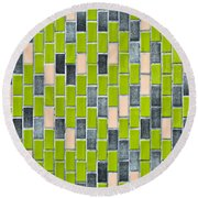 Colorful Tiles Round Beach Towel