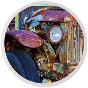Colorful Vintage Car Round Beach Towel