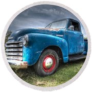 Colorful Workhorse - 1953 Chevy Truck Round Beach Towel