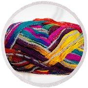 Colorful Yarn Round Beach Towel