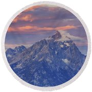 Colors Of Dawn Round Beach Towel
