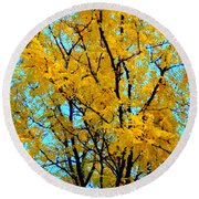 Colors Of Fall - Smatter Round Beach Towel