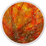 Colors Of Nature 9 Round Beach Towel