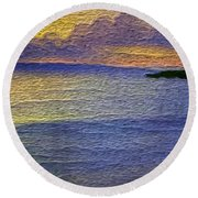 Colors Of Paradise Round Beach Towel by Anthony Fishburne