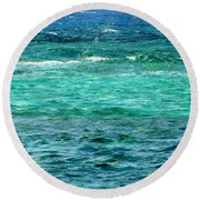 Colors Of The Sea  Round Beach Towel