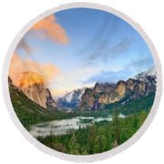 Colors Of Yosemite Round Beach Towel by Jamie Pham