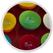 Colors Tray Round Beach Towel by Dany Lison