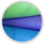 Colorscape Tubes B Round Beach Towel