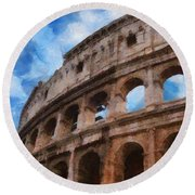 Colosseo Round Beach Towel