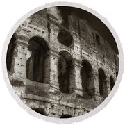 Colosseum Wall Round Beach Towel