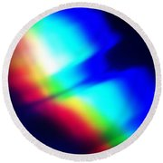 Coloured Light Round Beach Towel by Martin Howard