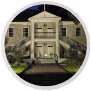 Colton Hall At Night Round Beach Towel