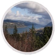 Columbia Gorge Round Beach Towel by Belinda Greb