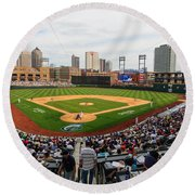 D24w-295 Columbus Clippers Photo Round Beach Towel