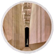 Columns And Monuments Round Beach Towel