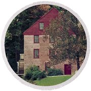 Colvin Run Mill Round Beach Towel by Greg Reed