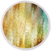 Come A Little Closer - Abstract Art Round Beach Towel by Jaison Cianelli