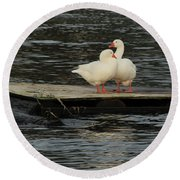Round Beach Towel featuring the photograph Come Closer My Love by E Faithe Lester
