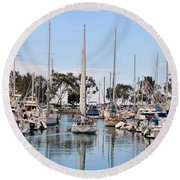 Come Sail Away Round Beach Towel