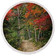 Come Walk With Me Round Beach Towel by Priscilla Burgers