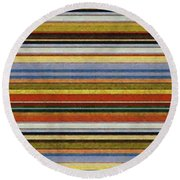 Comfortable Stripes Vll Round Beach Towel