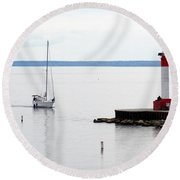 Coming Home  Round Beach Towel by Laurel Best