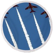 Coming To  Land Round Beach Towel