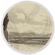 Commando Memorial 3 Round Beach Towel