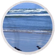 Companion Crows Round Beach Towel