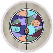 Round Beach Towel featuring the digital art Compass by Deborah Smith