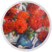Complementary - Original Impressionist Painting - Still-life - Vibrant - Contemporary Round Beach Towel