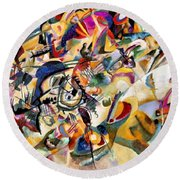Composition Vii  Round Beach Towel