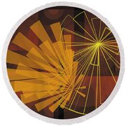 Composition16 Round Beach Towel by Terry Reynoldson