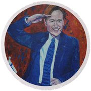 Conan O'brien Flagging Finland Round Beach Towel
