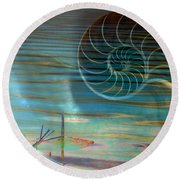 Conch Round Beach Towel by Irma BACKELANT GALLERIES