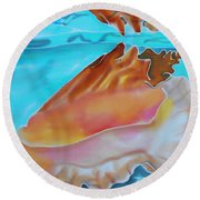 Conch Shallows Round Beach Towel