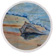 Conched Out Round Beach Towel