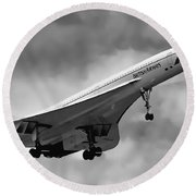Concorde Supersonic Transport S S T Round Beach Towel