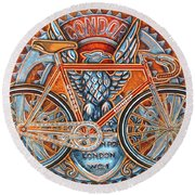 Round Beach Towel featuring the painting Condor Fixed by Mark Howard Jones