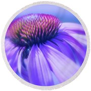 Cone Flower In Pastels  Round Beach Towel