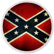 Confederate Flag 4 Round Beach Towel