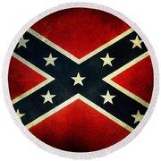 Confederate Flag 4 Round Beach Towel