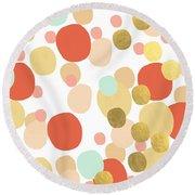 Confetti- Abstract Art Round Beach Towel