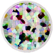 Confetti Table Round Beach Towel by Ecinja Art Works