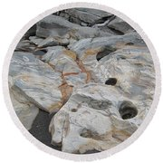 Connecticut River Bed Round Beach Towel