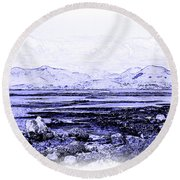 Round Beach Towel featuring the photograph Connemara Shore by Jane McIlroy