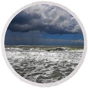 Conquering The Storm Round Beach Towel by Sandi OReilly