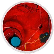 Consciousness Of The Inanimate Round Beach Towel by Paul Davenport