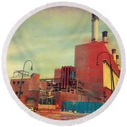 Consolidated Edison Company Of New York Round Beach Towel